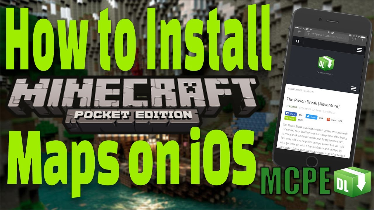 How To Install Minecraft Maps IOS FREE No Jailbreak No - Kostenlose maps fur minecraft pe