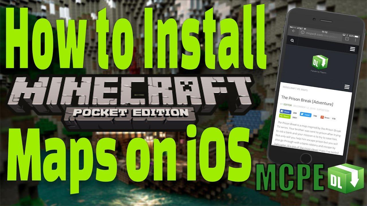 How To Install Minecraft Maps IOS FREE No Jailbreak No - Kostenlose maps fur minecraft