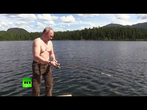 Siberian vacation: Putin takes short break to spearfish, hik