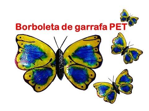 Tutorial Borboleta De Garrafa Pet Youtube
