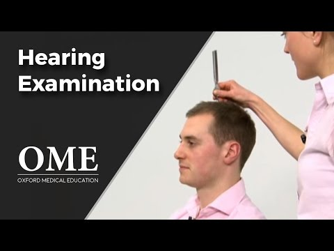 Hearing Test (Rinne and Weber Examinations) - ENT