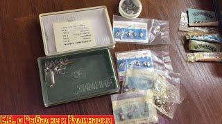 Наборы мормышек для зимней рыбалки в заводских упаковках из СССР Советские рыболовные мормышки