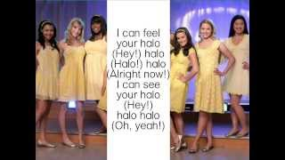 Halo/Walking on sunshine glee lyrics