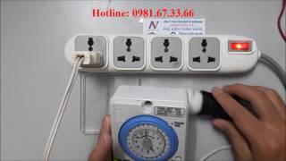 Hướng dẫn cài đặt timer thời gian (đồng hồ hẹn giờ) Camsco TB35-N/Fuji TB338 giá 350k