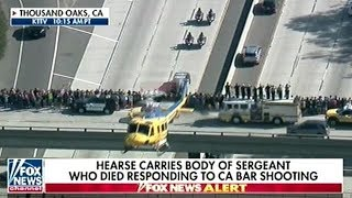 Massive Police Procession For Sheriff Killed At Thousand Oaks Mass Shooting