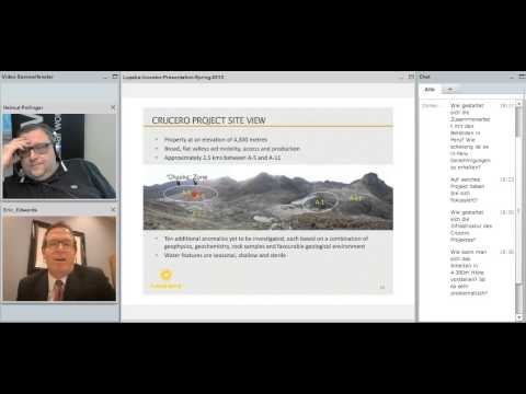 Interview mit CEO Eric Edwards, Lupaka Gold TSX: LPK...