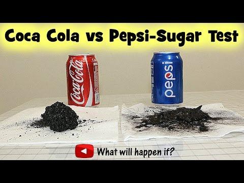 Coca Cola vs Pepsi-Sugar Test (Full range)