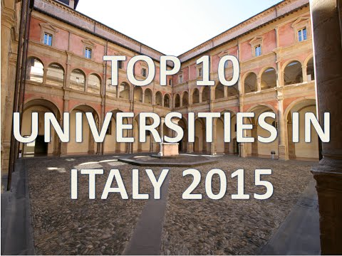 Top 10 Best Universities In Italy 2015/Top 10 Universidades De Italia 2015