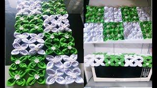 Como Fazer Toalha para Micro-ondas de Flor de Fuxico
