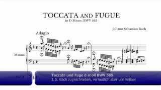 Toccata und Fuge d-moll BWV 565 (Autorschaft ungeklärt)