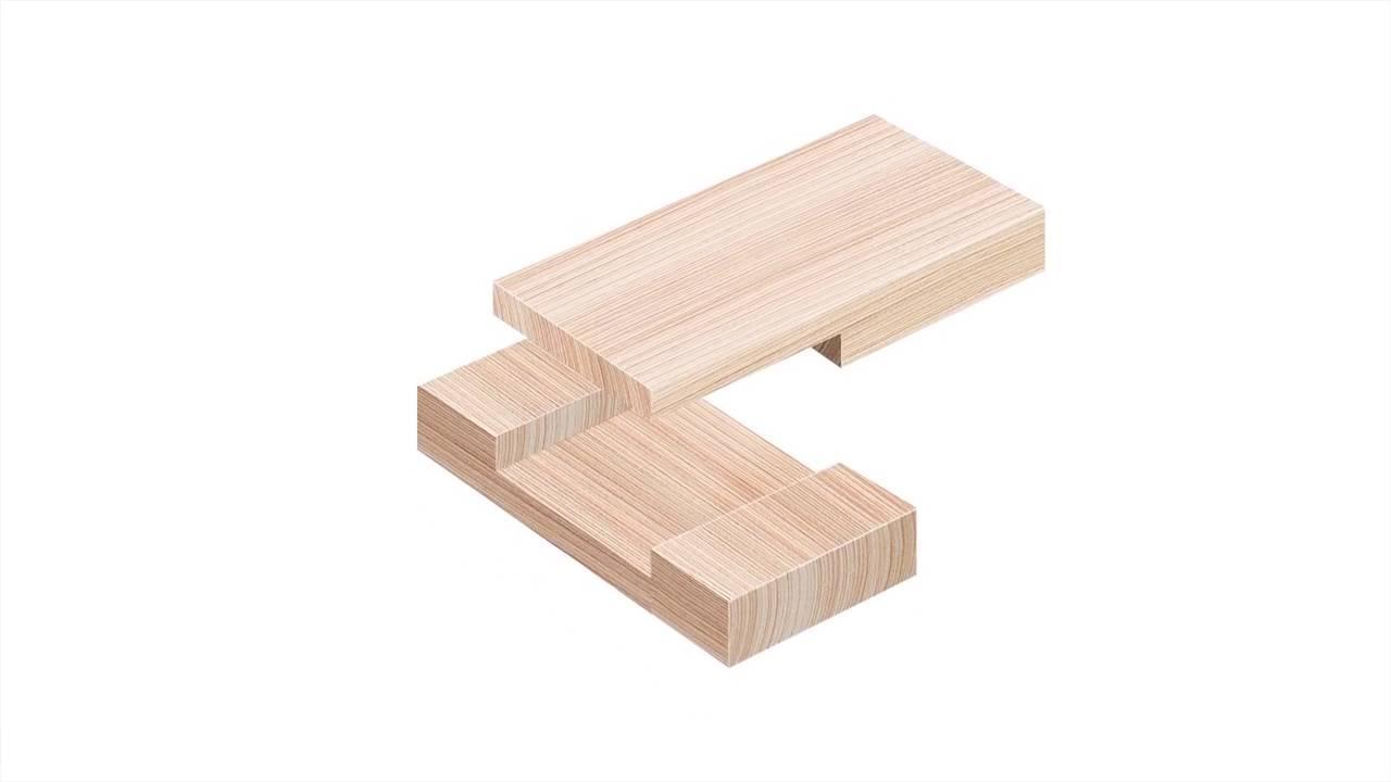 Carpintería de madera - Cross Lap Joint - Youtube-5577