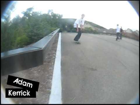 Adam Kerrick Invasion Skateboards throw away footage.