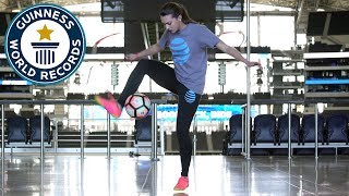Most 'around the world' ball control tricks in one minute - Indi Cowie - Guinness World Records