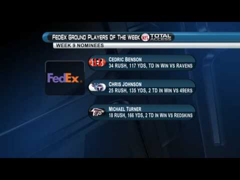 WK 9 FedEx Air Ground Players of the Week winners
