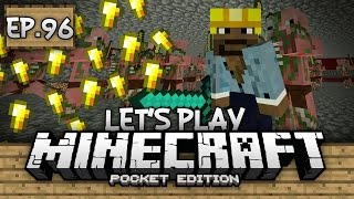 Survival Let's Play Ep. 96 - NAMETAGS & GOLD PIGMAN FARM!!! - Minecraft PE (Pocket Edition)