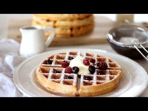 Belgian Waffle Recipe | How to Make Waffles