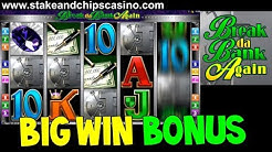BIG WIN - BREAK DA BANK AGAIN !! 🚨 CASINO SLOT GAME BONUS ROUND - from Live stream