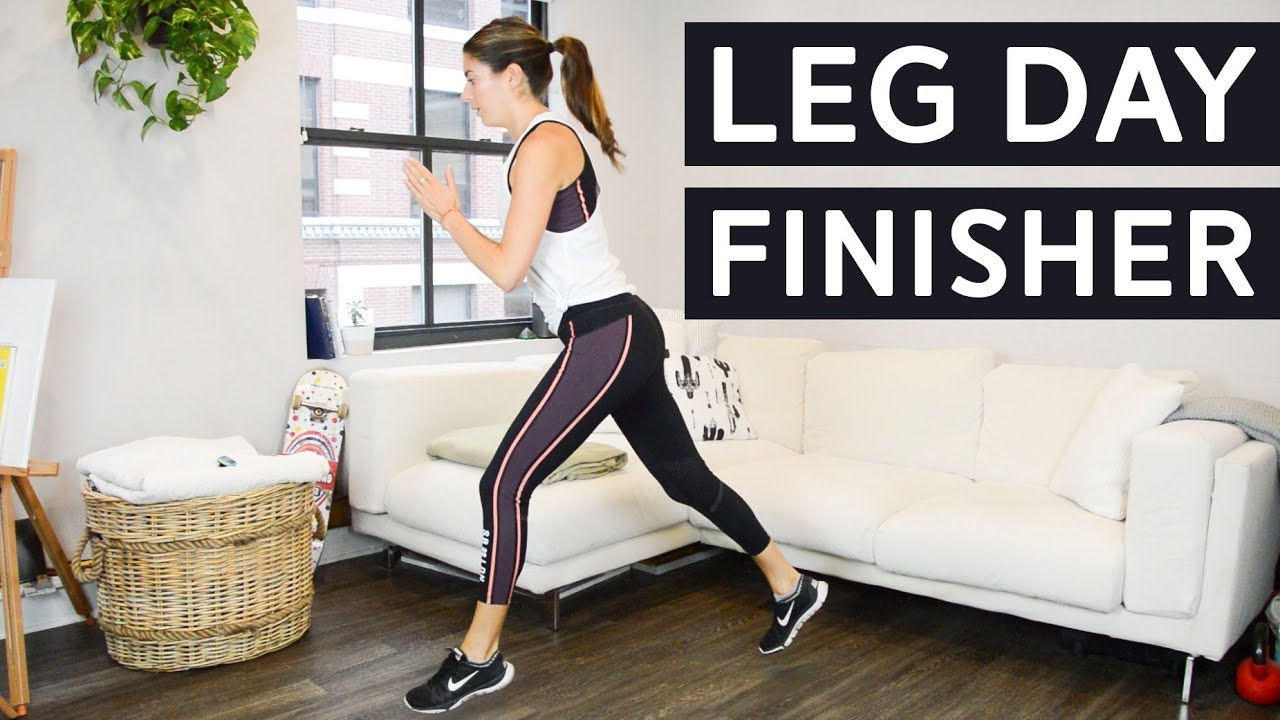 aa8d0edce98fb Leg Day Finisher - Quick Lower Body Burnout - YouTube