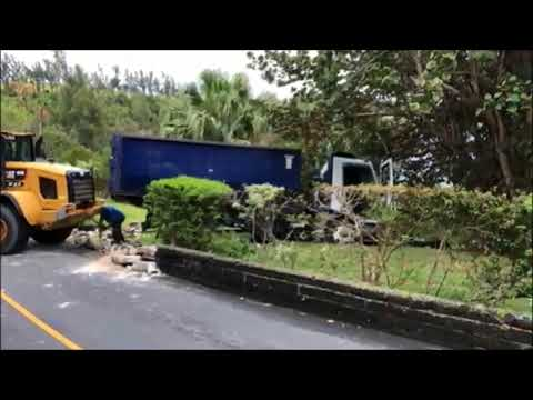 Truck Collision in Hamilton Parish, April 30 2018