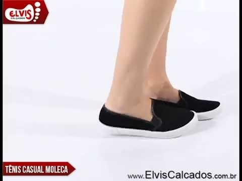c18a413c8 Tênis Iate Feminino Moleca 529610010084 Preto - YouTube