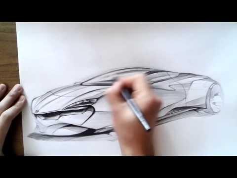 온스케치 TV Car Sketch - BMW Concept coupe Sketch (Color Pencil)