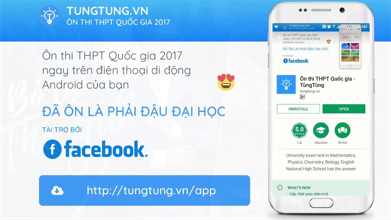 Ứng dụng ôn thi THPT Quốc gia 2017  – tungtung.vn