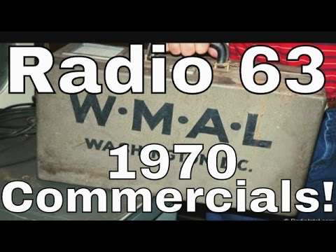 WMAL Radio 63 Commercials 1970 Washington, DC