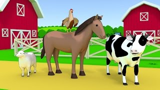 Farm animals name and sound - Kids Learning