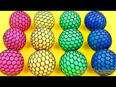 Learn Colors Squishy Balls Super Surprise Egg Kinder Joy Baby Toys Play Doh Molds for Kids Children