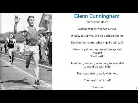 Motivation Corner Episode 1 - A story of determination: Glenn Cunningham