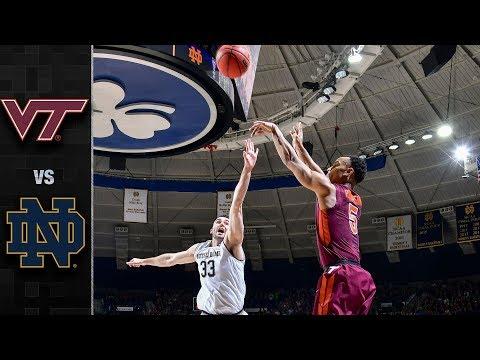 Virginia Tech vs Notre Dame College Basketball Condensed Game 2018