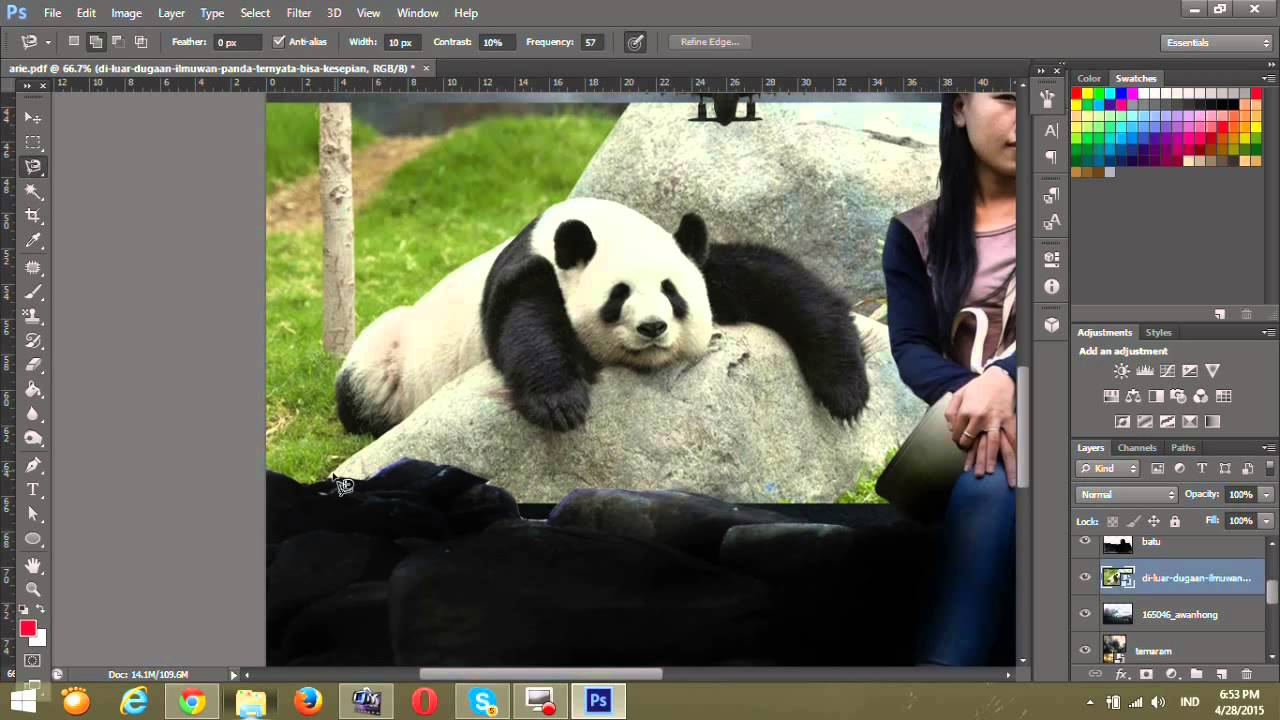 cara edit gambar dengan photoshop cs6 - YouTube