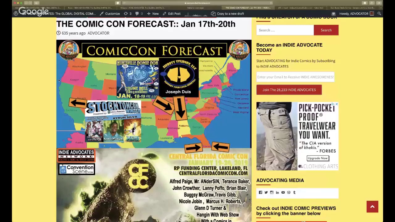 THE COMIC CON FORECAST:: Jan 17th-20th