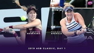 Eugenie Bouchard vs. Madison Brengle | 2019 ASB Classic Day 1 | WTA Highlights