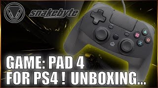 Snakebyte Game Pad 4 Controller for PS4 Unboxing