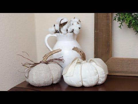 DIY Sweater Fabric Pumpkin, Fall Farmhouse Decor | Simply Dovie