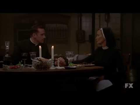 american horror story jude and monsignor scene youtube