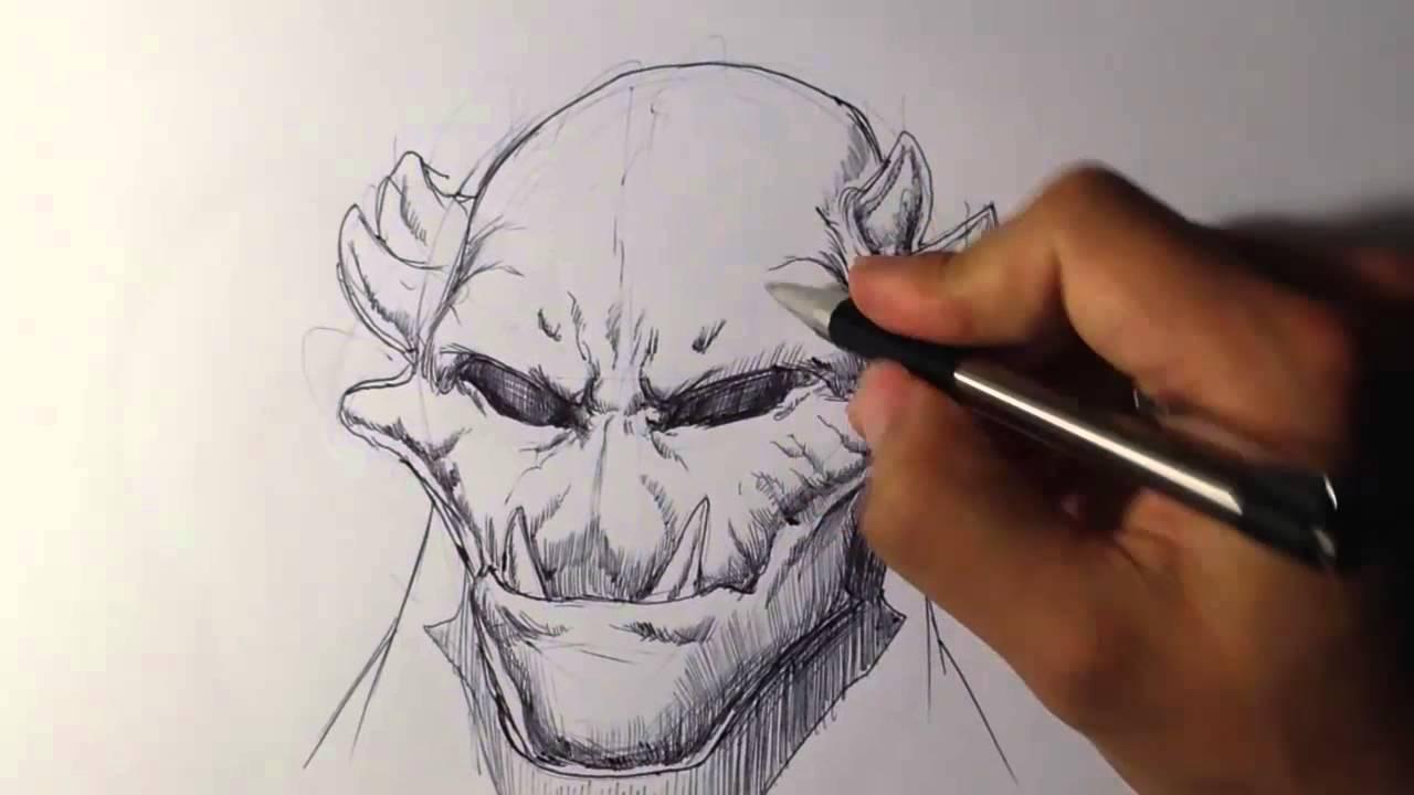 Creature portrait 1 draw fantasy art youtube