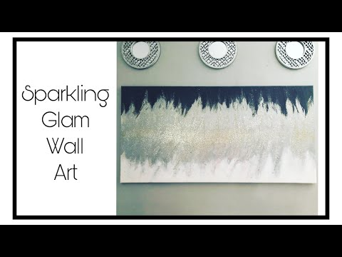 DIY Sparkling Glam Wall Art