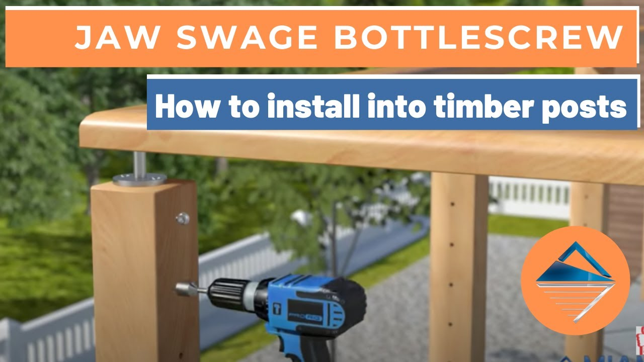 How To Install Wire Balustrade Jaw Swage Bottlescrew For