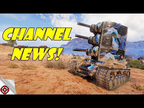 BIG CHANNEL NEWS / NEW SCHEDULE / TRAINING ROOM GAMES! (World of Tanks) thumbnail