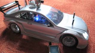 Rc Car with camera, audio/subwoofer, selfmade radio control and other.mp4