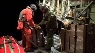 JRCC Halifax/EMO Nunavut mission - Hercules supply drop in Nunavut