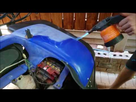 How to Restore Faded or Oxidized ATV Plastic - Propane Torch