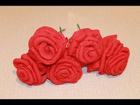 Большая роза из салфеток своими руками пошаговое 69