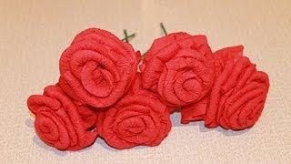 Как из салфетки сделать розу(Как из салфетки сделать розу своими руками - мастер класс., 2014-03-02T16:00:50.000Z)
