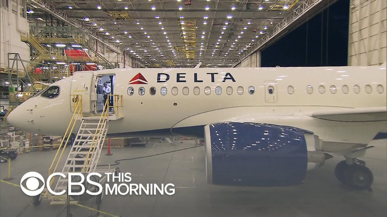 New Delta Airbus A220 Features Wider Coach Seats Youtube