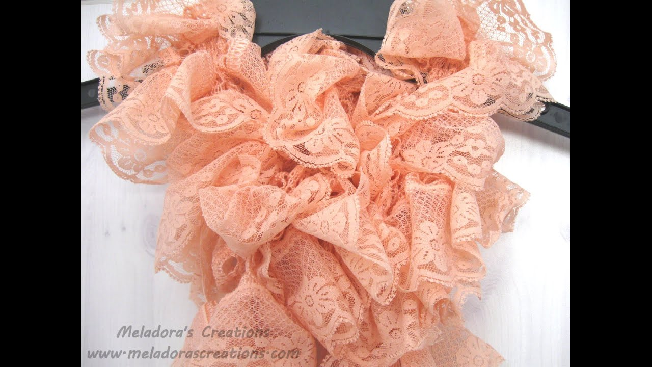 How to Knit a Lacy Ruffle Scarf - Right Handed Version ...