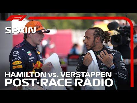 Hamilton & Verstappen's Post-Race Radio Reaction | 2021 Spanish Grand Prix