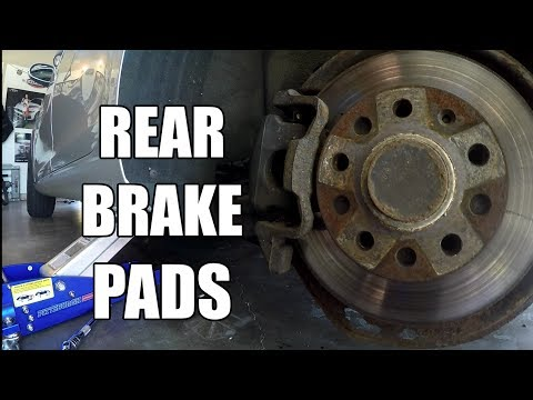 HOW TO Replace Rear Brake Pads on a Volkswagen VW JETTA